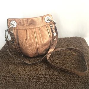 B.Makowsky Copper Crossbody Pebbled Bag/Purse